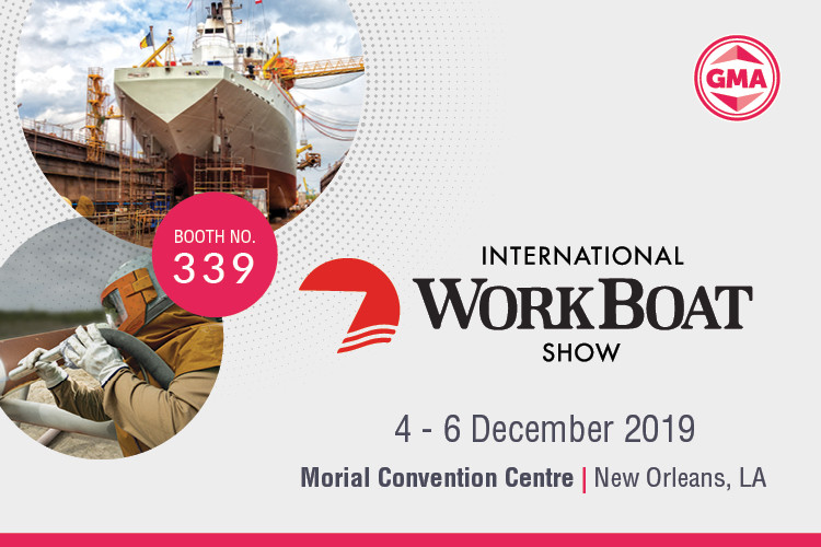 Visit GMA at the International Workboat Show at Morial Convention Centre from Dec 4-6, 2019.